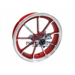 Диск колеса 10' Yamaha Jog передний, литой, дисковый тормоз красный