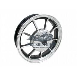 Диск колеса 10' Yamaha Jog задний, литой, барабанный тормоз черный