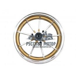 Диск колеса 10' Yamaha Jog передний, литой, дисковый тормоз золото