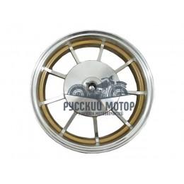 Диск колеса 10' Yamaha Jog задний, литой, барабанный тормоз, золото