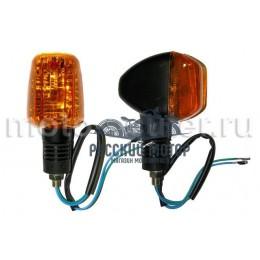 Указатель поворота №26 оранжевое стекло, квадратной формы, большой (2 штуки)