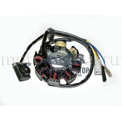 Статор генератора 139QMB 50cc 8 катушек (2 индукционные катушки)
