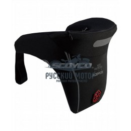 Защита шеи мотоциклиста N04 с молнией черная Scoyco