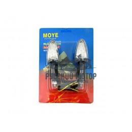 Указатель поворота светодиодный №05 (LED-06) черный TTR-250 (2 штуки)