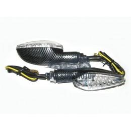 Указатель поворота светодиодный №02 (LED-03) карбон (2 штуки)