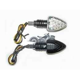 Указатель поворота светодиодный №03 (LED-04) черный (2 штуки)