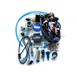 Инжектор для мопеда с двигателем 152FMH С-110 d-28 мм впускной закрытый тип (Комплект для установки)