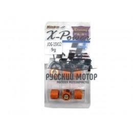 Ролики вариатора (комплект 6 штук) 15*12 9 грамм Yamaha, Stels KOSO