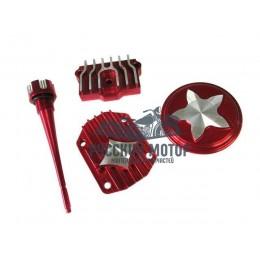 Крышки головки к двигателю LF120 красные (комплект крышек головки и щуп масла)
