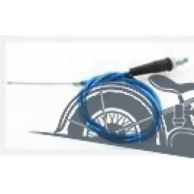 Трос газа с натяжкой (синий) для короткоходной ручки Питбайк, TTR