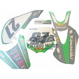 Комплект наклеек на кроссовый мотоцикл KIX Kawasaki