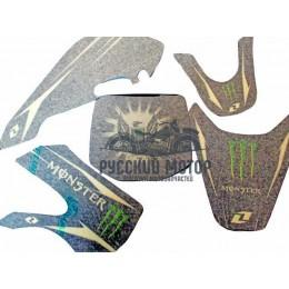 Комплект наклеек на кроссовый мотоцикл KIX Monster 2
