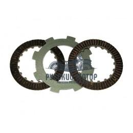 Диски сцепления двигателя 139 FMB 50cc (2 штуки текстолитовые и 1 штука стальной)