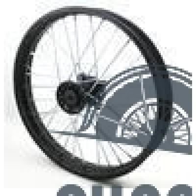 Диск колеса передний стальной на спицах 1.40 - 14' цвет черный, дисковый тормоз ось 15мм Питбайк