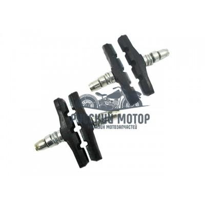 Колодки тормоза V-Brake с резьбой 70мм 2 пары блистер (цена за две пары)