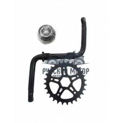 Комплект шатунов для детского велосипеда 16' (шатун, звезда, чашки, гайки, подш-ки) 3011602