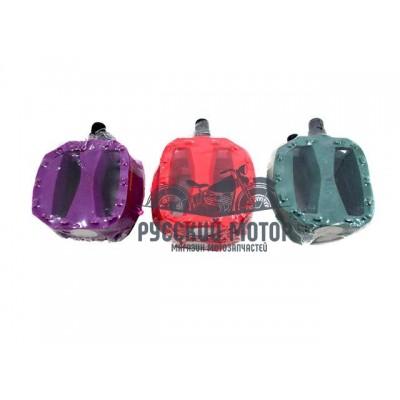 Педаль цветная, пластик, шариковый подшипник, резьба 9/16(мелкая резьба) 3032603-15