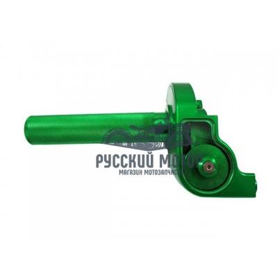 Ручка газа короткоходная в сборе (зеленая) CNC
