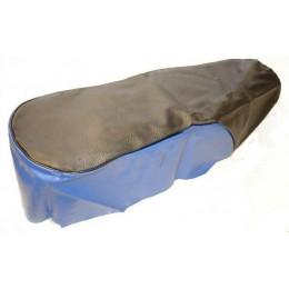 Чехол сиденья черный с синими вставками Урал