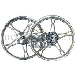 Диск колеса 17' мопед передний, литой, барабанный тормоз d-10