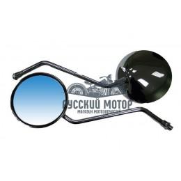 Зеркало №09 металл хром круглое М10