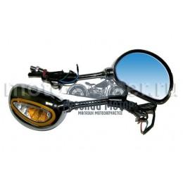 Зеркала заднего вида №41 пластик хром с поворотом МТ -101 М10
