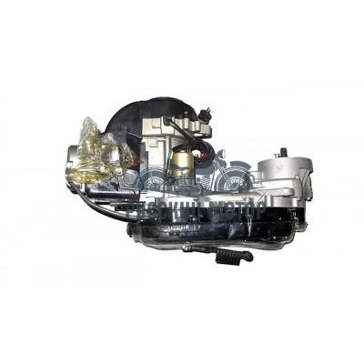 Двигатель скутера в сборе 139QMB 80cc база под 10' колесо ось задняя короткая (под 1 амортизатор)
