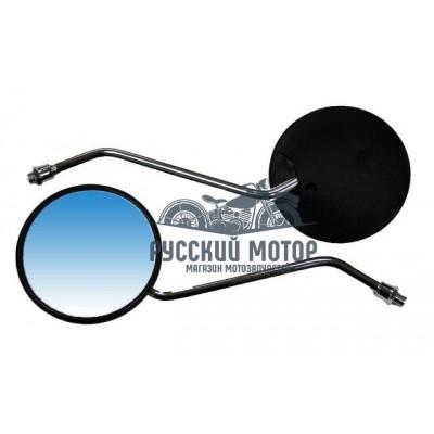 Зеркала заднего вида №02 пластик черное круглое Dingo М8