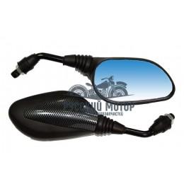 Зеркало №22 Скутер мини пластик литой корпус карбон М8