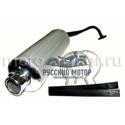 Глушитель 4т 139QMB (алюминиевый бочонок + колено)