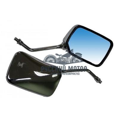 Зеркала заднего вида №16 пластик прямоугольное, крепление с угла М8 хром