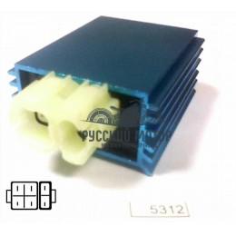Коммутатор (CDI) GY6 50-150сс тюнинг фишка с торца (4+2)