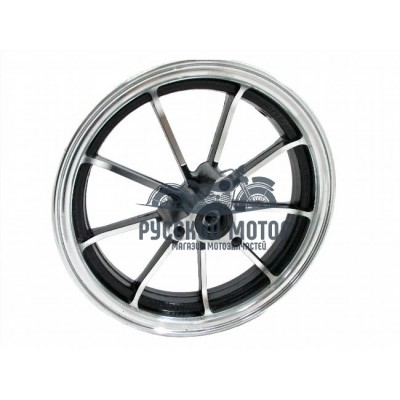 Диск колеса 10' Yamaha Jog передний, литой, дисковый тормоз черный