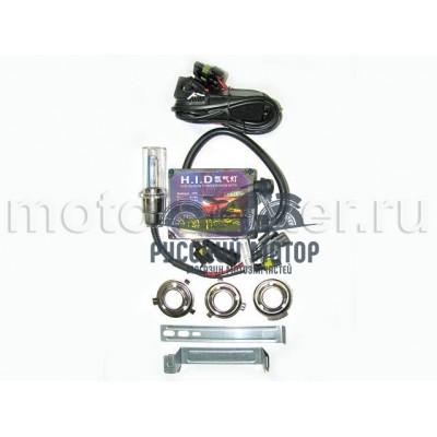 Биксенон мото (лампа фары, блок розжига, переходники)