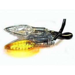 Указатель поворота светодиодный №02 (LED-03) хром (2 штуки)