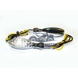 Указатель поворота светодиодный №01 (LED-01) хром (2 штуки)