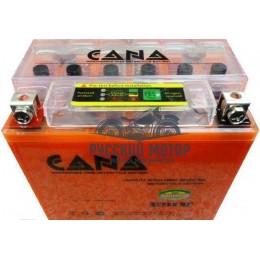 Аккумулятор CANA гелевый 12v/7hr YTX7L-BS - orange (100EN, iGel, 114х71х131, 2кг, -) 8, тест