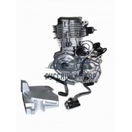 Двигатель 162FMM 150cc (пат. карб., рычаг кик., педаль пер. передач, крышка ведущей звезды) (CG-150)