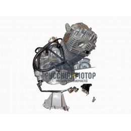 Двигатель GTY 169 FMM 250cc (патрубок карбюратора, рычаг кикстартера, педаль пер-я передач) (CB 250)