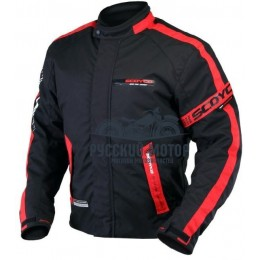 Куртка мотоциклетная JK34 красная (XХХL) Scoyco