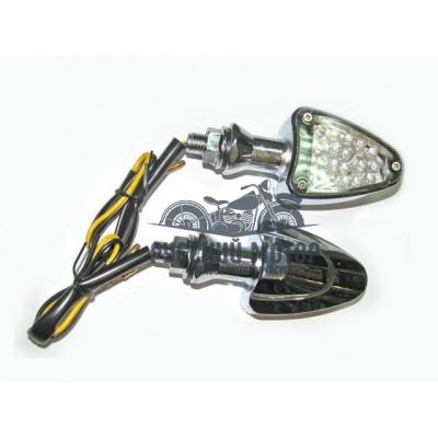 Указатель поворота светодиодный №06 (LED-07) хром (2 штуки)