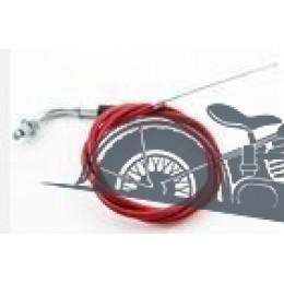 Трос газа с натяжкой (красный) для короткоходной ручки Питбайк, TTR