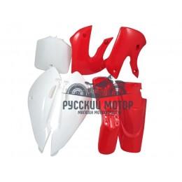 Комплект пластика для питбайка KLX (красный)