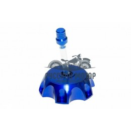 Крышка (пробка) бензобака алюминиевая PITBIKE (синяя)