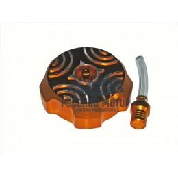 Крышка (пробка) бензобака алюминиевая PITBIKE (золотая) ТИП-1