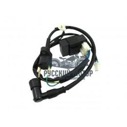 Катушка зажигания CDI YX140 (5 проводов) с колпачком+коммутатор