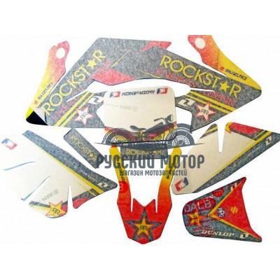 Комплект наклеек на кроссовый мотоцикл CRF50 Rockstar