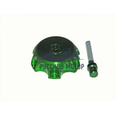 Крышка (пробка) бензобака алюминиевая PITBIKE (зеленая)