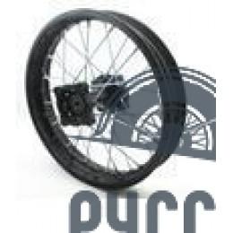 Диск колеса задний алюминиевый на спицах 1.85 - 14' обод черный, дисковый тормоз ось 15мм Питбайк