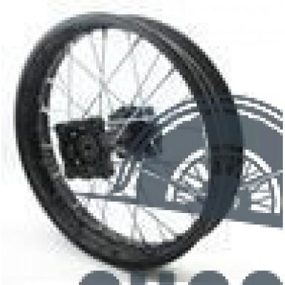 Диск колеса задний стальной на спицах 1.85 - 14' обод черный, дисковый тормоз ось 15мм Питбайк
